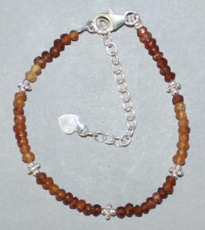 Bracelet Grenat Hessonite facetté (2)