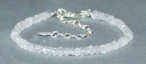 Bracelet Quartz rose facetté