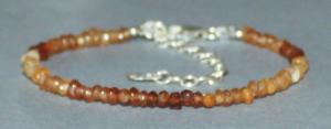 Bracelet Grenat Hessonite facetté