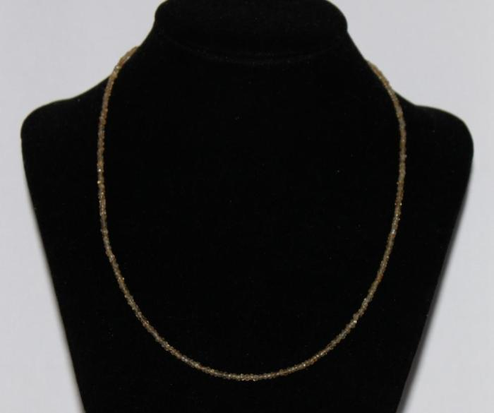 Collier Citrine facettée